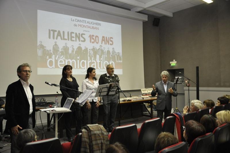Conférence Rocco Femia Italiens 150 ans d'immigration Comité Dante Alighieri Montauban