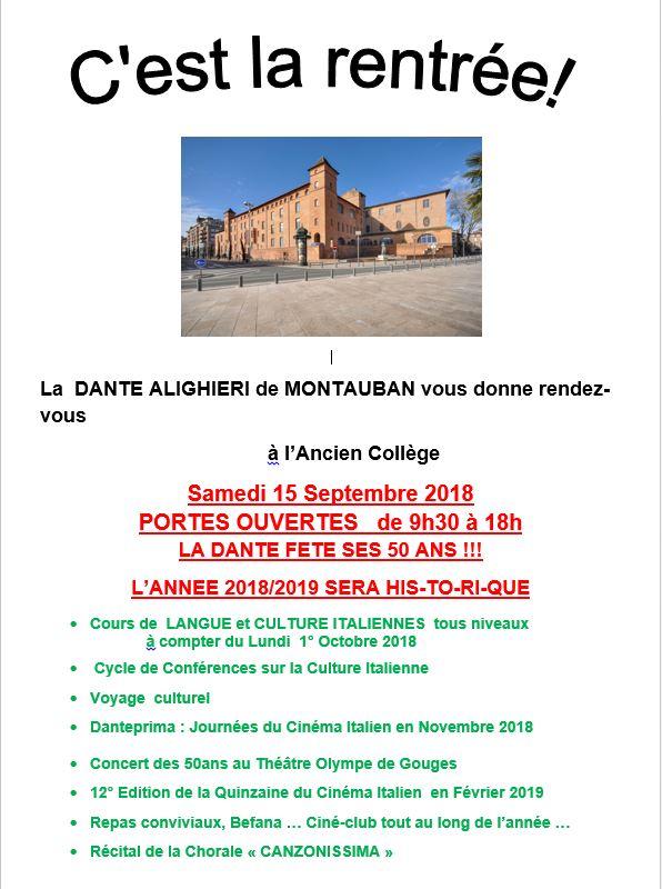Journée portes ouvertes Dante Montauban